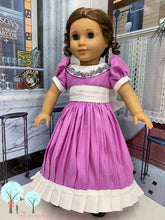 "Southern Bell in Lavender and White  Poly Silk DUPIONI, 18"" American Girl Dress"
