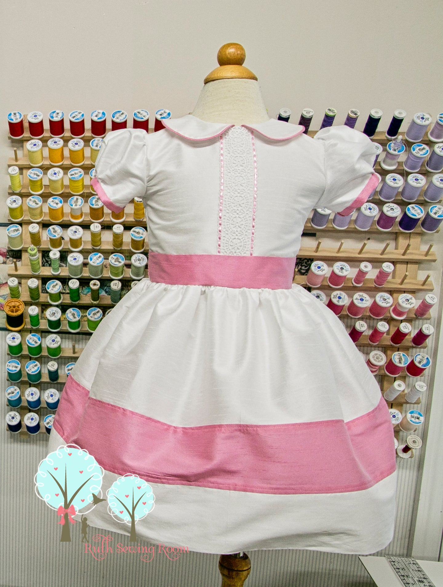 Beauty - Sunday Best - Poly Silk Dupioni - Wedding Flower Girl - Easter - Tea Party Dress - Birthday Party Dress - Princess