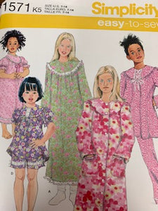 Simplicity Pattern 1571 size 3-6 ruth sewing room