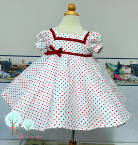 Shirley Temple Inspired Dress,  Make-believe Ready to Ship size 18m/2t