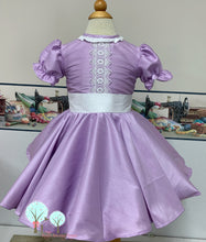 Beauty - Sunday Best - Poly Silk Dupioni Lilac - Wedding Flower Girl - Easter - Tea Party Dress - Birthday Party Dress - Princess