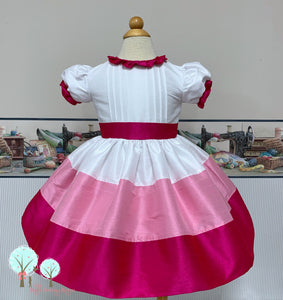 Beauty - Sunday Best - Poly Silk Dupioni  Pintucks - Wedding Flower Girl - Easter - Tea Party Dress - Birthday Party Dress - Princess