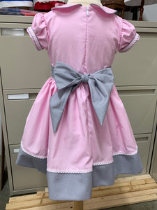 Pink and Grey Interview Dress RTS size 18m/24m/2t  OOAK
