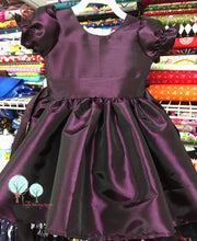 Deep Purple  Silk DUPIONI, Christmas Party Dress, Other Colors Available