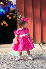 Beauty - Sunday Best - Poly Silk Dupioni Hot Pink  - Wedding Flower Girl - Easter - Tea Party Dress - Birthday Party Dress - Princess
