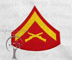 Marine Lance Corporal  Rank Logo Applique