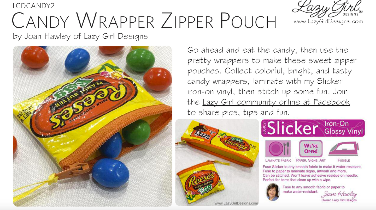 Candy Wrapper Zipper Pouch