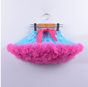 Pettiskirt --Chiffon --Tutu--Inspired --Turquoise and Hot Pink