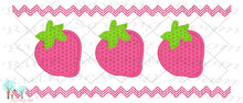 Strawberry  Faux Smocking Stitch  Embroidery Design Ruth Sewing Room