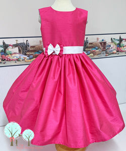 Interview Dress American Beauty Silk DUPIONI, Wedding Flower Girl Silk Christmas Party Dress, Birthday, Celebration, Recital, Girls, Other Colors Available