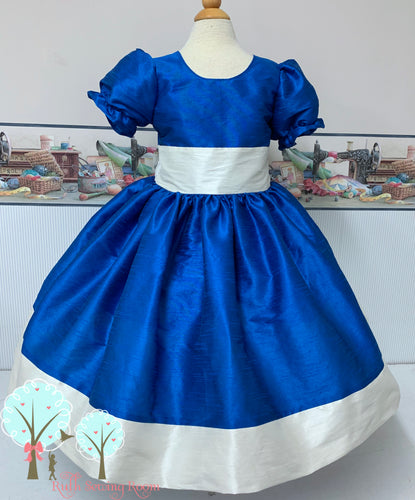 Flower Girl Dress  Silk DUPIONI, Christmas Party Dress, Other Colors Available at Ruth Sewing Room