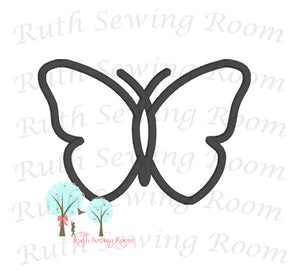 Butterfly Applique   - Embroidery Design Instant download Machine Embroidery - This is NOT a PATCH!