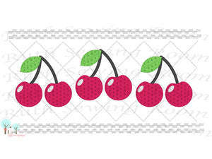Cherry Faux Smocking 2 Stitch Cherry Smocking Embroidery Design