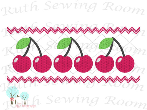 Cherry Faux Smocking  Stitch Cherry Smocking Embroidery Design