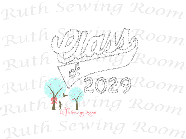 Class of 2029 First Day of School, Embroidery - First Day of School - Vintage Stitch  Embroidery Design Instant download Machine Embroidery - This is NOT a PATCH!