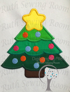 Christmas Tree Applique Embroidery Design This is NOT a PATCH!