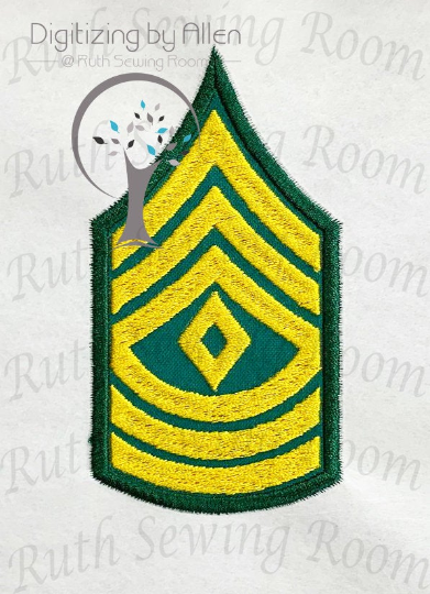Army First Sergeant Rank Logo Applique