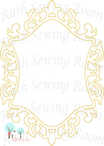 Frame 3 -  Frame for  Monogram - Embroidery Design Instant download Machine Embroidery - This is NOT a PATCH!