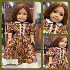 "Felicity, LIttle House on the Prairie, Addy  - 18"" America Girl Dress OOAK"
