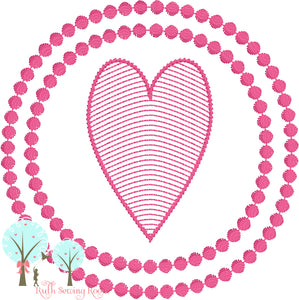 Frame 3 -  Frame Heart  - Embroidery Design Instant download Machine Embroidery - This is NOT a PATCH!