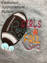 Girls Love Fall -  Applique Embroidery Design Instant download Machine Embroidery
