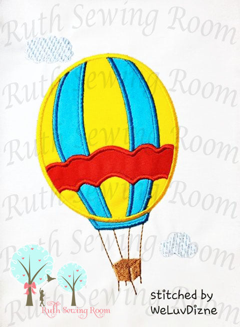 Hot Air Balloon -  Storybook Balloon - -  Appliques Embroidery Design -- Digitize File
