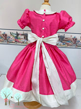 Flower Girl Bright Pink, Poly Silk DUPIONI, Christmas Party, Birthday, Cinderella Pageant OOC- Other Colors Available