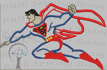 Superman in Flight Applique, Justice League Applique Embroidery Design This is not Fill and NOT A PATCH