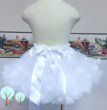 Pettiskirt --Chiffon --Tutu--Inspired --White -- Will fit under any of Ruth Sewing Room Dresses for that very Full Look