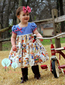 Cowgirl Dress, Retro Cowgirl Dress, Cowgirl Birthday Dress, Western Birthday, Girls Rodeo Dress, Pageant Wear, Retro Cowboy, Girls Dress