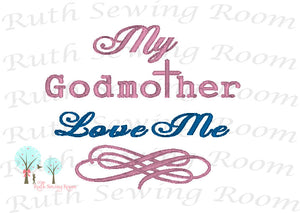 My Godmother, Embroidery, Christian Embroidery, Godparents Embroidery - Baptism - Dedication -   Christian Embroidery,  Digitize File ---