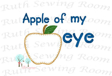 Apple Of my Eye Vintage Stitch - Applique 3 Apples,  Fall Harvest, Applique  Design Instant download Embroidery - This is NOT a PATCH