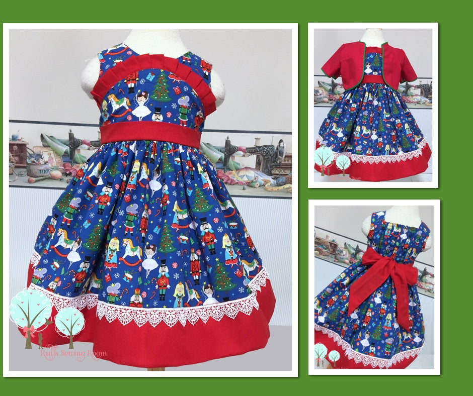 The Nutcracker Christmas Dress, Ballet Dress, Clara, Sugar Plum Fairy,  Christmas Party Dress, Celebration, Recital,  Children Size