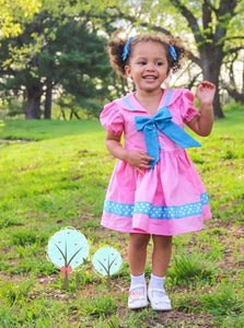 Sailor Dress -- Custom you pick the colors you want  - Pageant Dress   - Cruise Vacation Dress ~ Sailor Dress ~ Birthday Party