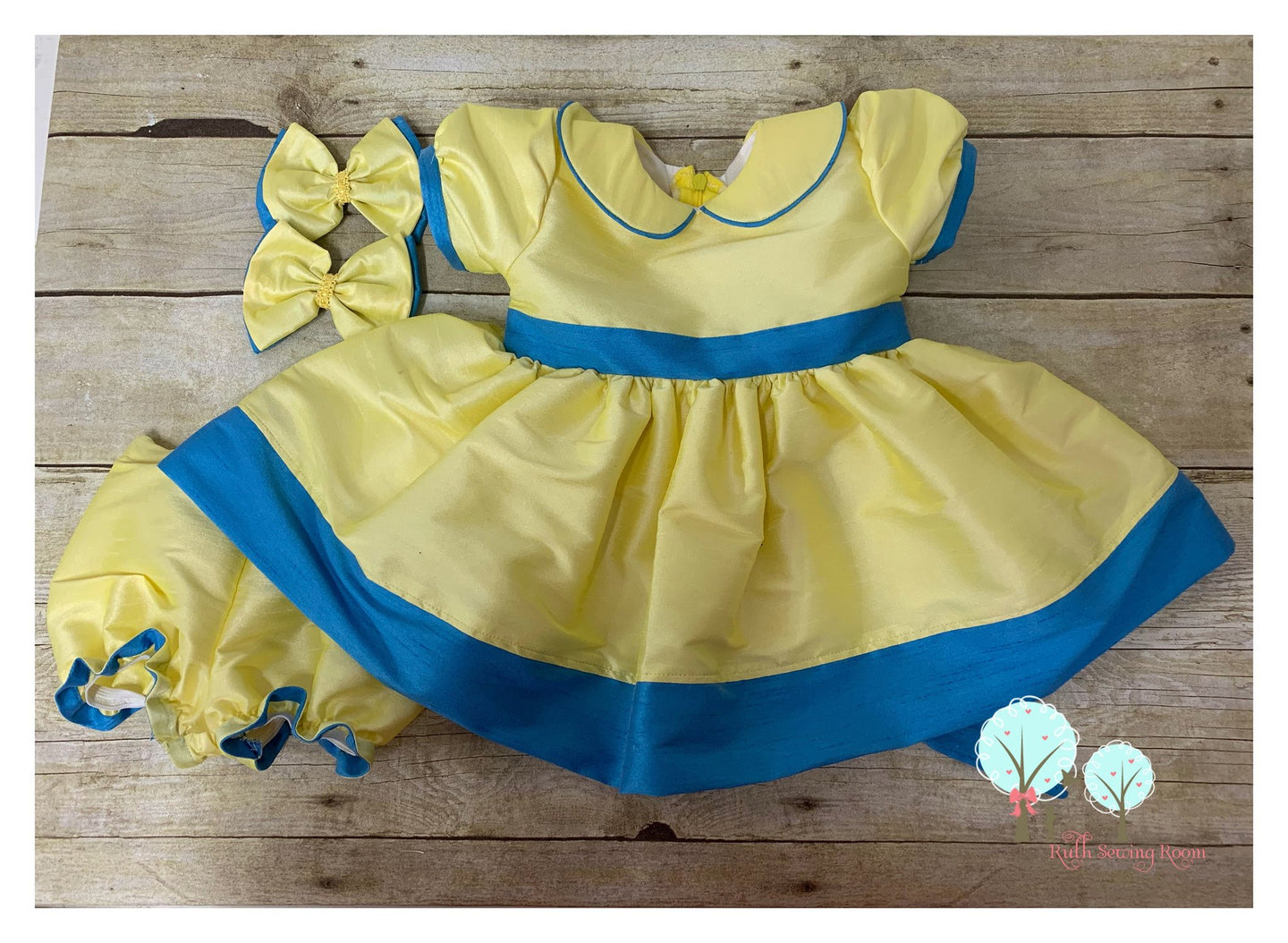 Beauty - Sunday Best - Poly Silk Dupioni  Lemon/Maize  - Wedding Flower Girl - Easter - Tea Party Dress - Birthday Party Dress - Princess
