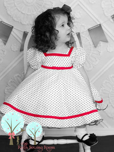 ShirleyTemple Inspired Dress, Shirley Dress, Shirley Costume, Baby Doll Dress,  Pageant Dress,  Birthday Dress, School Play, Make-believe