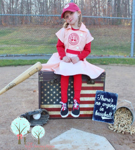 Rockford Peach Costume for Dress Up, A league Of Their Own Costume, Baseball Dress, Children Sizes
