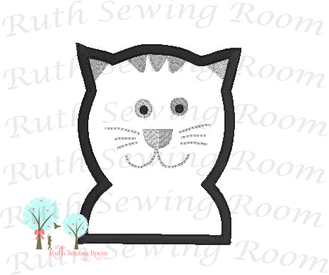 Cat Made 2 Match Hobby Lobby Fabric -    Applique embroidery Design Instant download Machine Embroidery - This is NOT a PATCH!
