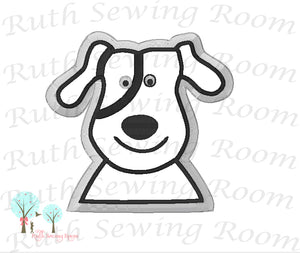 Dog  Made 2 Match Hobby Lobby Fabric -    Applique embroidery Design Instant download Machine Embroidery - This is NOT a PATCH!
