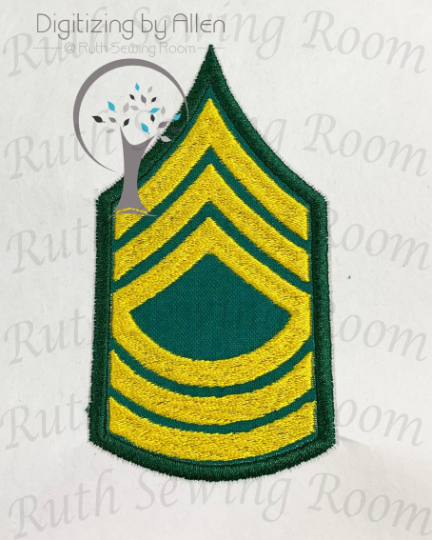 army master sergeant rank applique