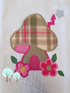 Mushroom Fairy Garden 2  Applique  -   Embroidery Design Instant Download Machine Embroidery