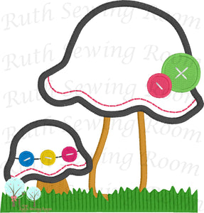 mushroom embroidery Ruth Sewing Room