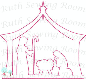 Nativity Scene - Christmas Vintage Stitch