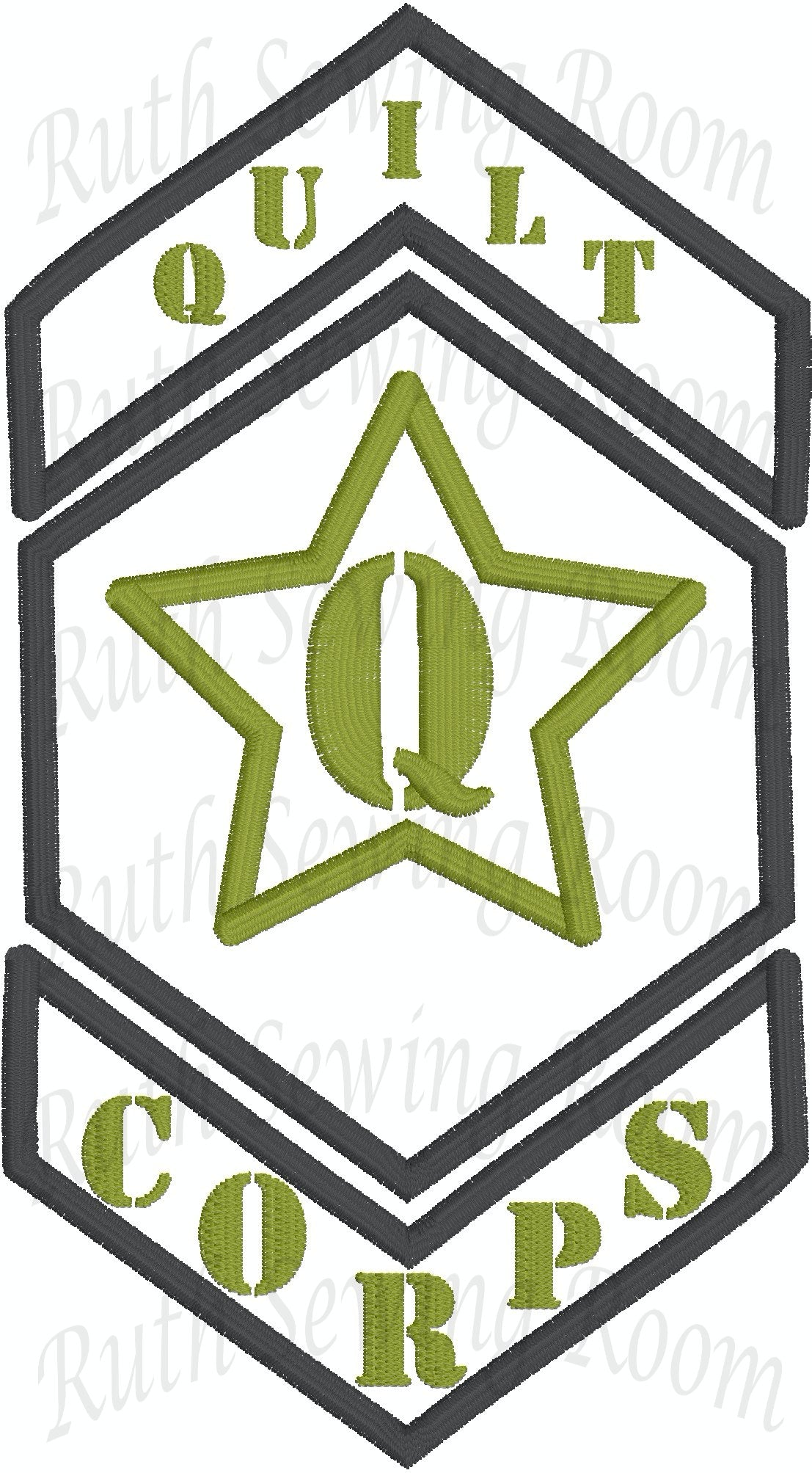 Quilt Corps  Embroidery -Applique - Stitch  Embroidery Design