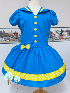 sailor dress you pick the colors custom children sizes at Ruth Sewing Room