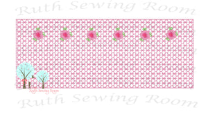 Faux Smocking with Bullion Roses, Embroidery Design Instant download Machine Embroidery,  --  This is NOT a PATCH!   Embroidery Design Instant Download Machine Embroidery - This is NOT a PATCH!