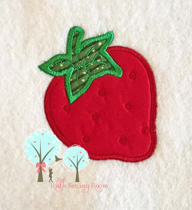 Strawberry Applique  -   Embroidery Design Instant Download Machine Embroidery