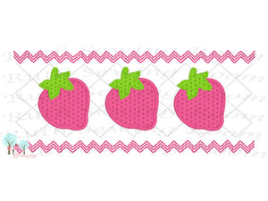 Strawberry  Faux Smocking Stitch  Embroidery Design Instant download Machine Embroidery,  --  This is NOT a PATCH!