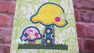 Mushroom Fairy Garden  Applique  -   Embroidery Design Instant Download Machine Embroidery