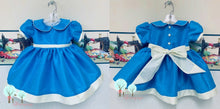 Interview Dress OOC Tropic Blue  Silk DUPIONI, Wedding Flower Girl Silk Christmas Party Dress, Birthday, Celebration, Recital, Girls, Other Colors Available